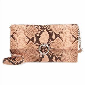 Rebecca Minkoff Jean Leather Clutch Shoulder Bag